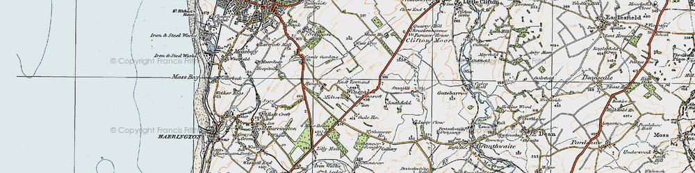 Old map of Winscales in 1925