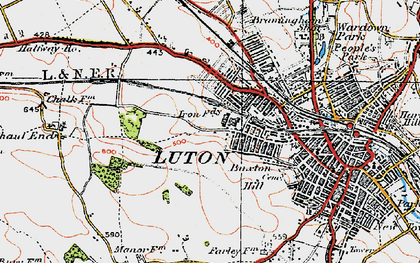 Old map of Winsdon Hill in 1920