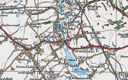 Old map of Winsford in 1923