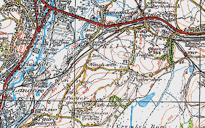 Old map of Winsh-wen in 1923