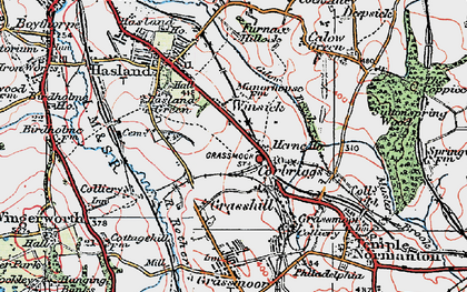 Old map of Winsick in 1923
