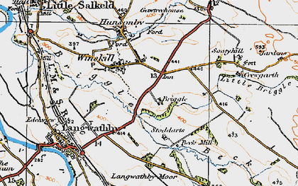 Old map of Winskill in 1925
