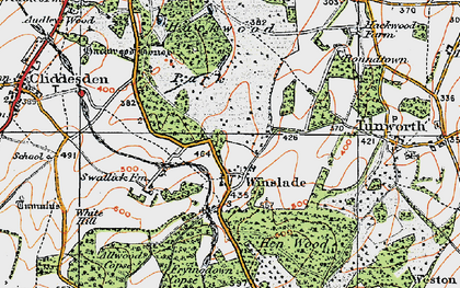 Old map of Allwood Copse in 1919