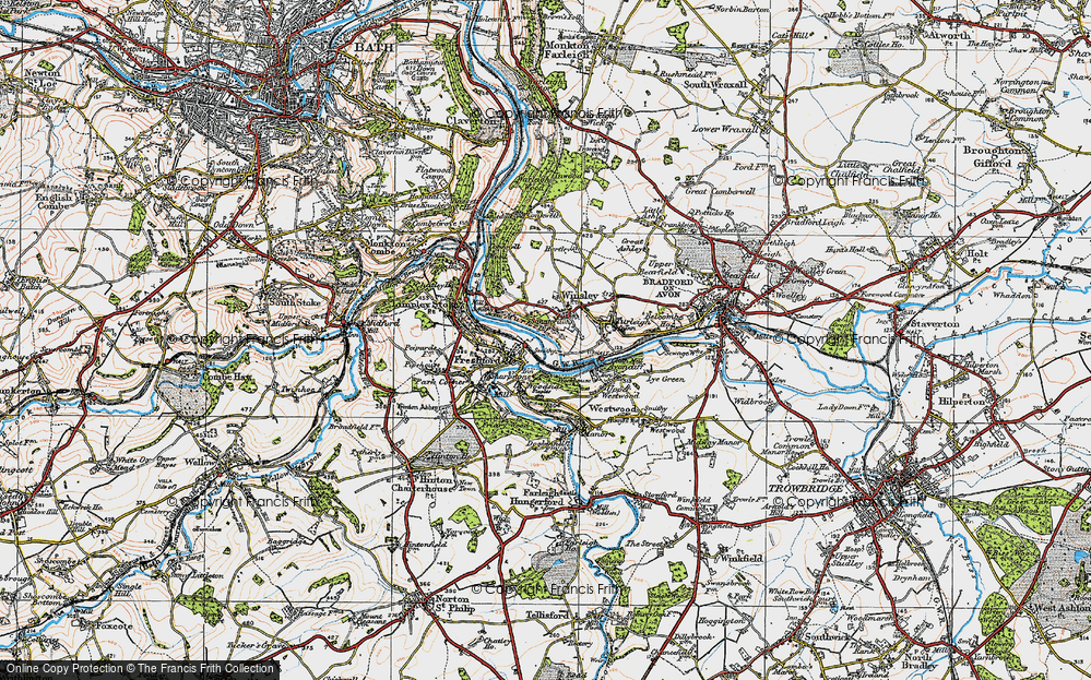 Old Map of Winsley, 1919 in 1919