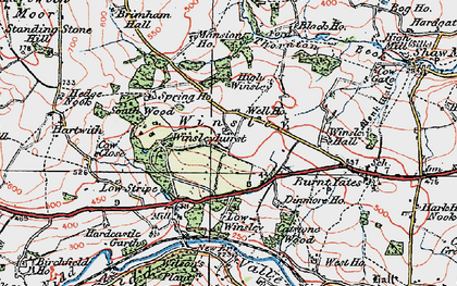 Old map of Winsley in 1925