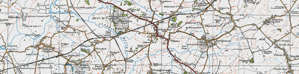 Old map of Winslow in 1919
