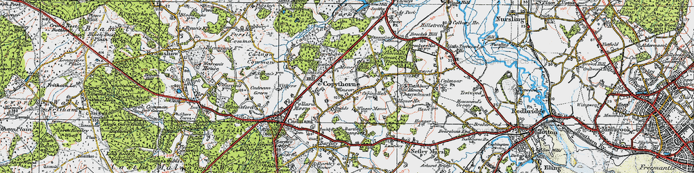 Old map of Winsor in 1919