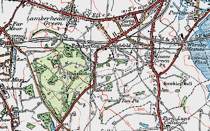 Old map of Winstanley Hall in 1924