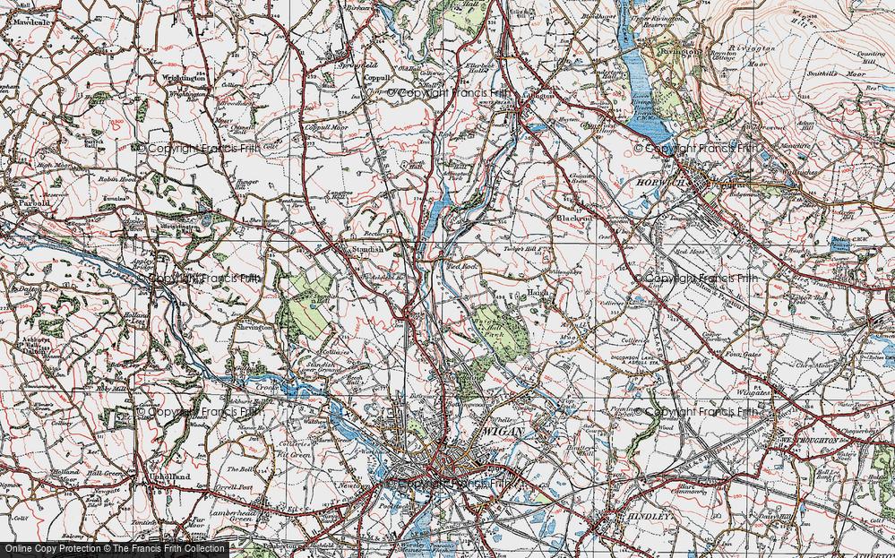 Old Map of Winstanleys, 1924 in 1924