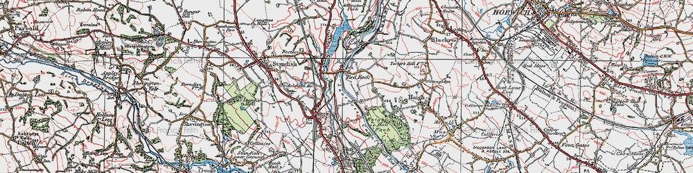 Old map of Winstanleys in 1924