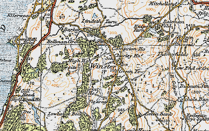 Old map of Winster in 1925