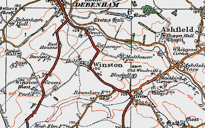 Old map of Winston Grange in 1921
