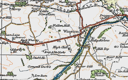 Old map of Winston in 1925