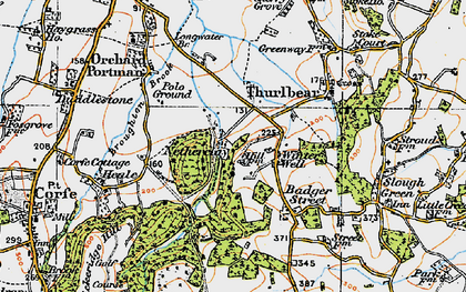 Old map of Winter Well in 1919