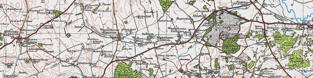 Old map of Anderson Manor in 1919
