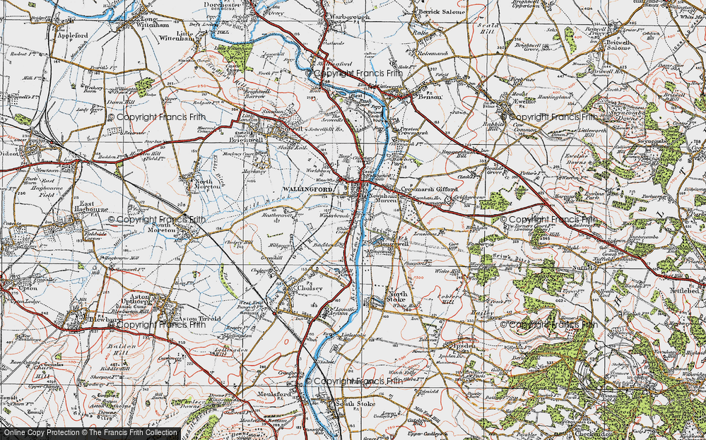 Old Map of Winterbrook, 1919 in 1919