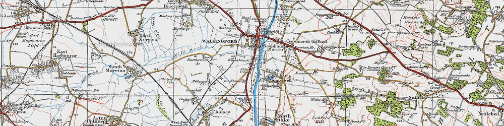 Old map of Winterbrook in 1919
