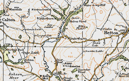 Old map of Windros Laithe in 1925
