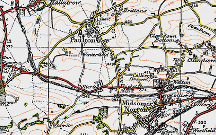 Old map of Winterfield in 1919