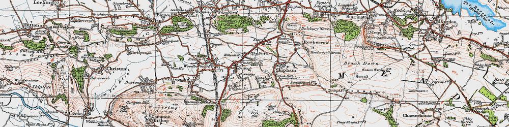 Old map of Winterhead in 1919