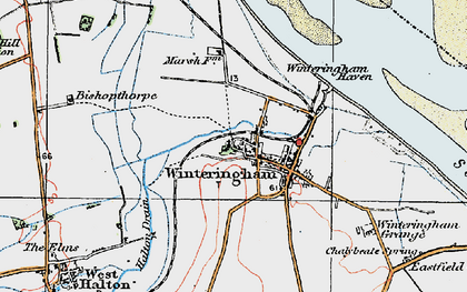 Old map of Winteringham Haven in 1924