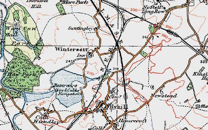 Old map of Wintersett in 1925