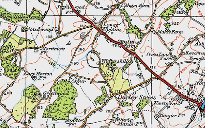 Old map of Wintershill in 1919
