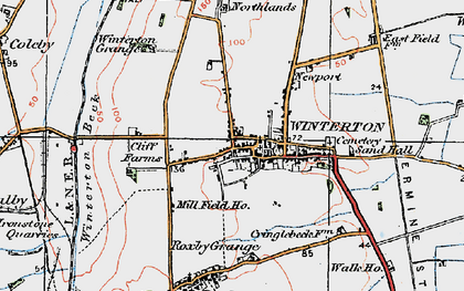 Old map of Winterton in 1924