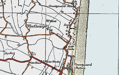 Old map of Winthorpe in 1923