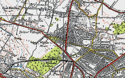 Old map of Winton in 1919