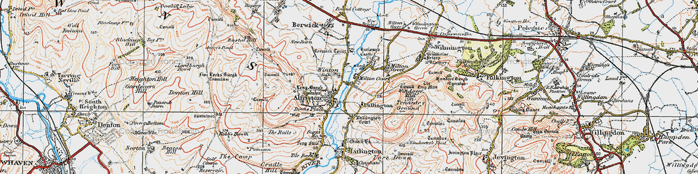 Old map of Winton in 1920