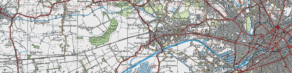 Old map of Winton in 1924