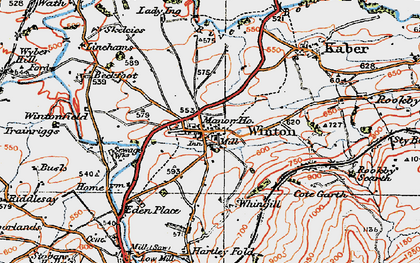 Old map of Winton Field in 1925