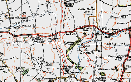 Old map of Winton in 1925