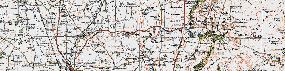 Old map of Winton Grange in 1925