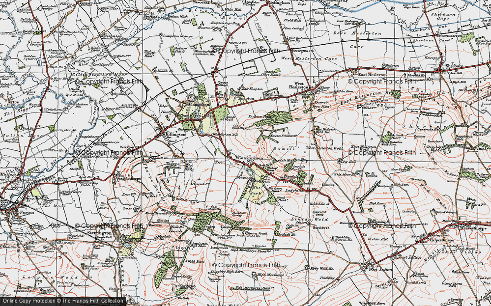 Old Map of Wintringham, 1924 in 1924