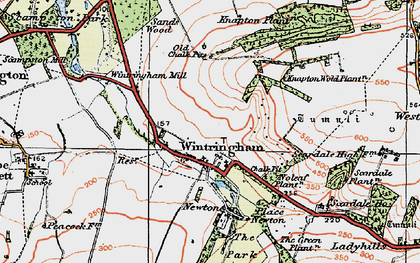Old map of Linton Wold in 1924