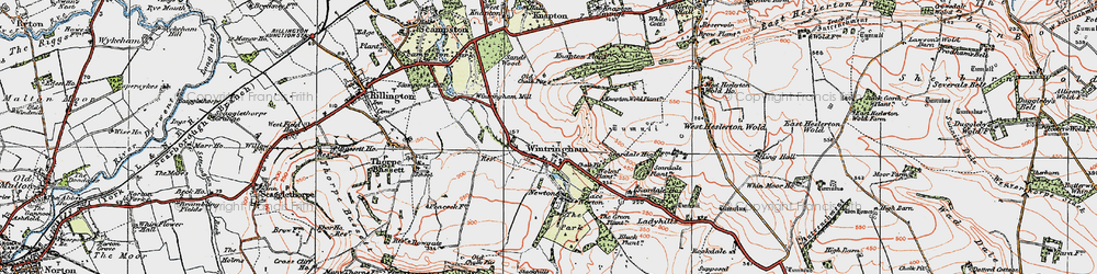 Old map of Wintringham in 1924