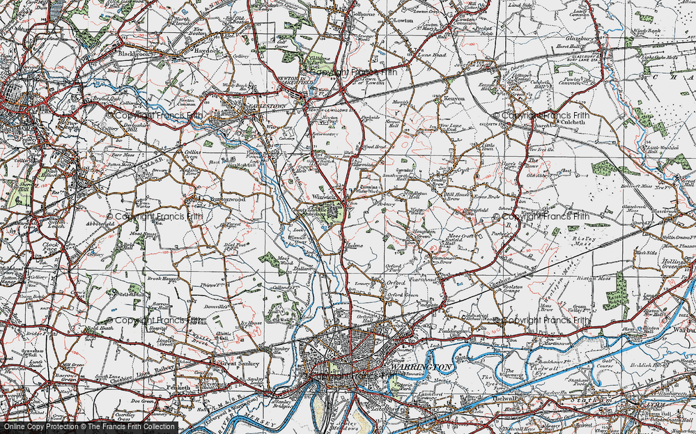 Old Map of Winwick, 1923 in 1923