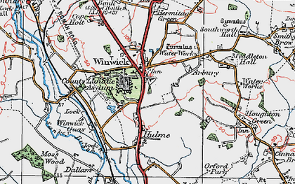 Old map of Winwick in 1923