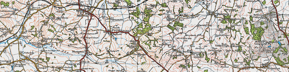 Old map of Winyard's Gap in 1919