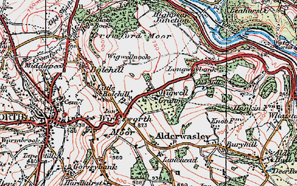 Old map of Wigwell Grange in 1923