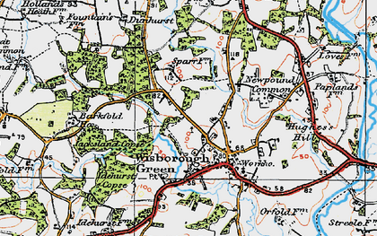 Old map of Wisborough Green in 1920