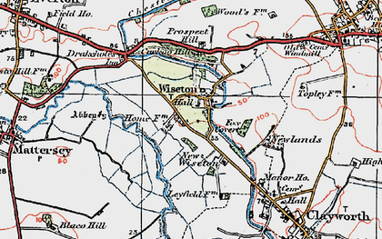 Old map of Wiseton in 1923