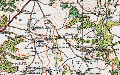 Old map of Wishanger in 1919