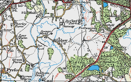 Old map of Wisley in 1920