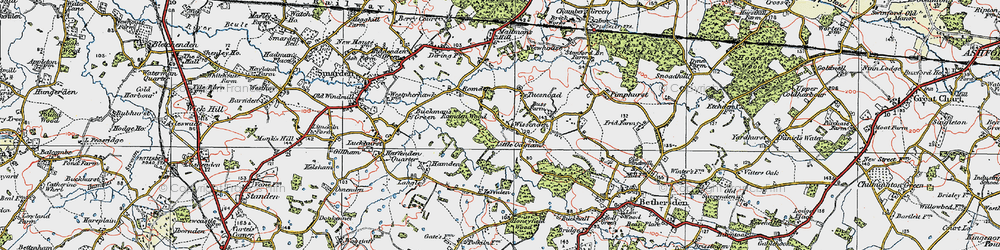 Old map of Wissenden in 1921