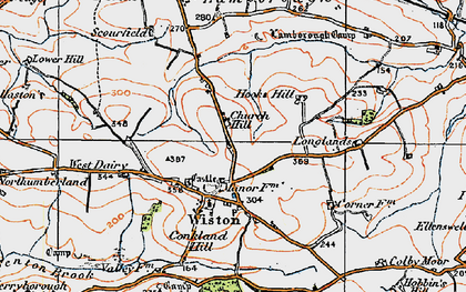Old map of Wiston in 1922
