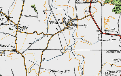 Old map of Wistow in 1920