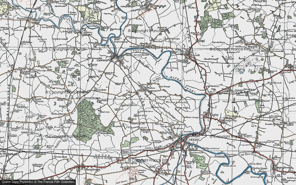 Old Map of Wistow, 1924 in 1924